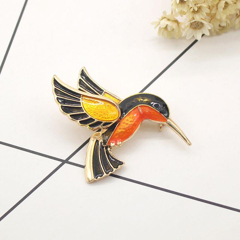 Mode Bohemian Charming Emaille Vogel Broschen Pins Für Frauen Lebendige Chic Tier Vögel Brosche Schal Hijab Mantel Pullover Clips