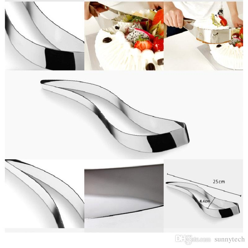 One-piece stainless steel cake cut clip blade shape cake divider cutter bread and butter cake baking gadgets WA1842