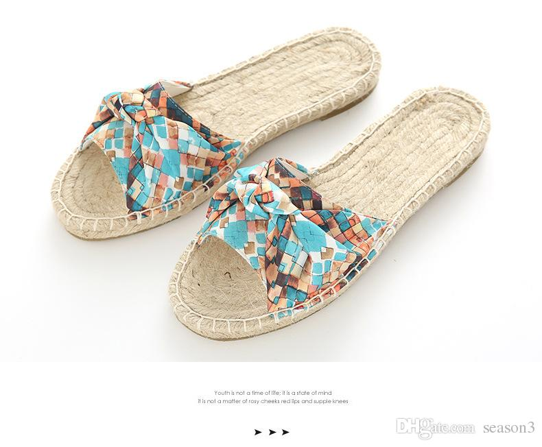 b8fdf63901a1b New Summer Straw Slipper Women Slippers Slides Women Sandals ...