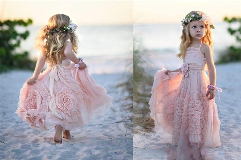 Cheap Special Flower Girls Dresses For Weddings Ruffles Sweet Pink ...