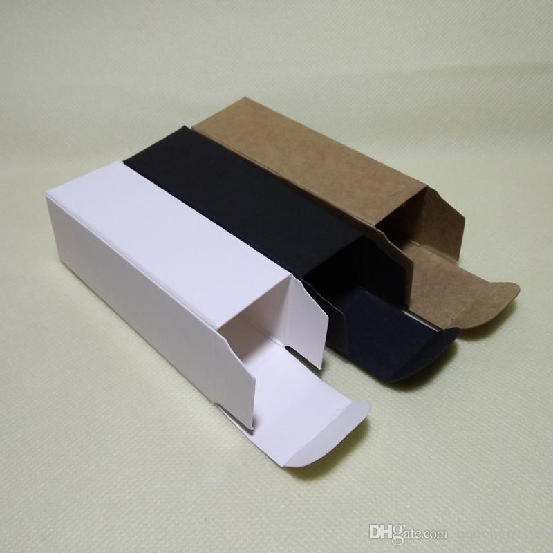 32x32x102mm Black White Kraft Paper Box DIY Cosmetic Gift Boxes for Facial cream Emulsion spray bottle Package valve tubes