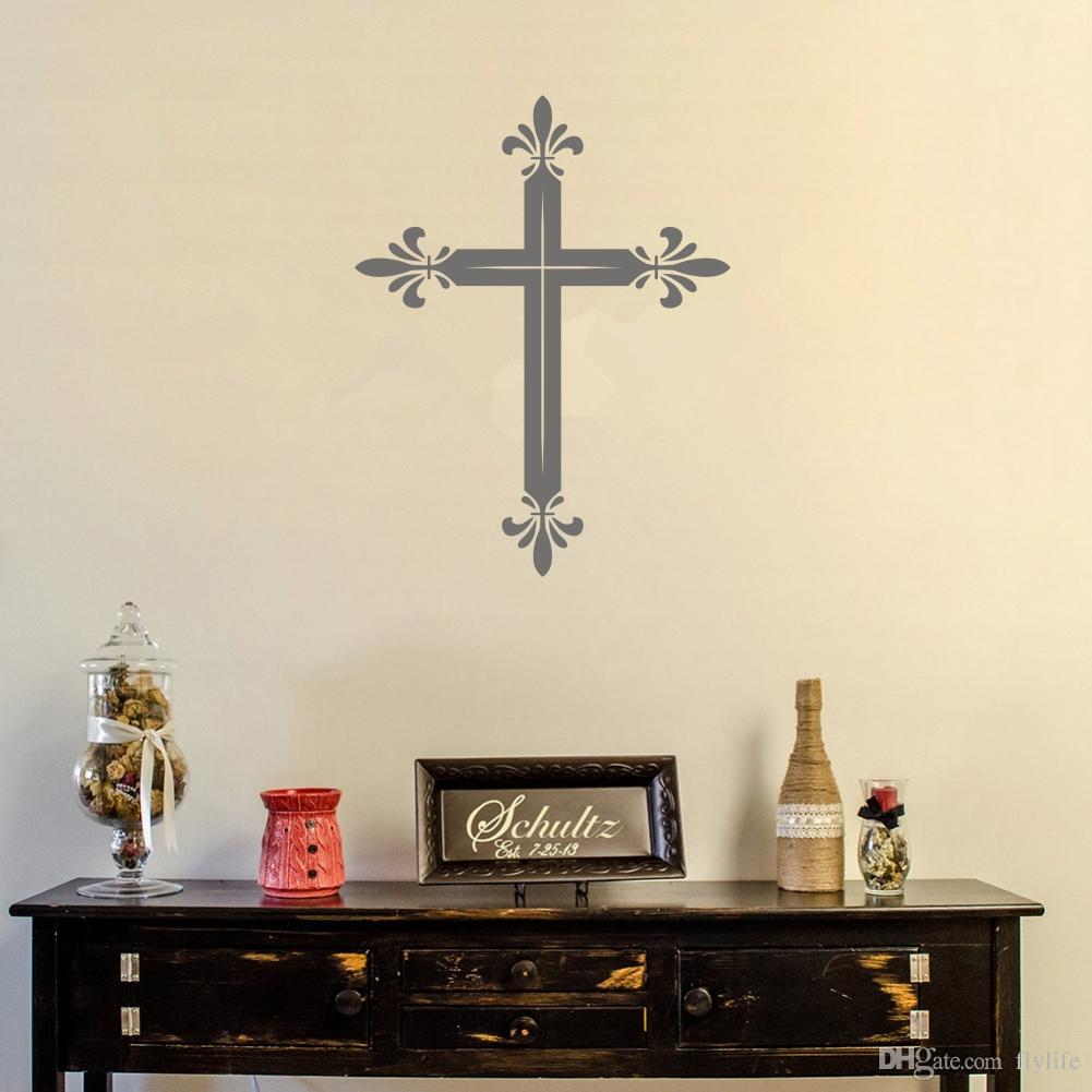 Latin Cross Wall Decal Sticker Religious Wall Art Decor For Living Room  Many Colors Available Wall Decal Deals Wall Decal Decor From Flylife,  $4.83| Dhgate.
