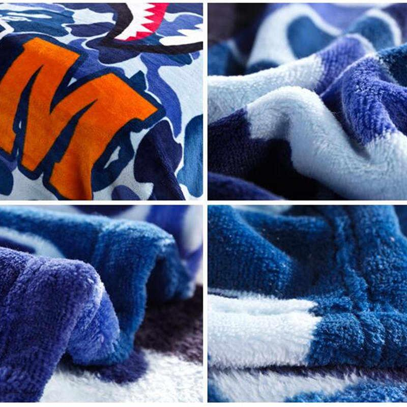 New Fashion Shark Head Blanket Throws on Sofa/Bed/Plane Travel Super Soft Carpet Plaids Big Shark Blankets