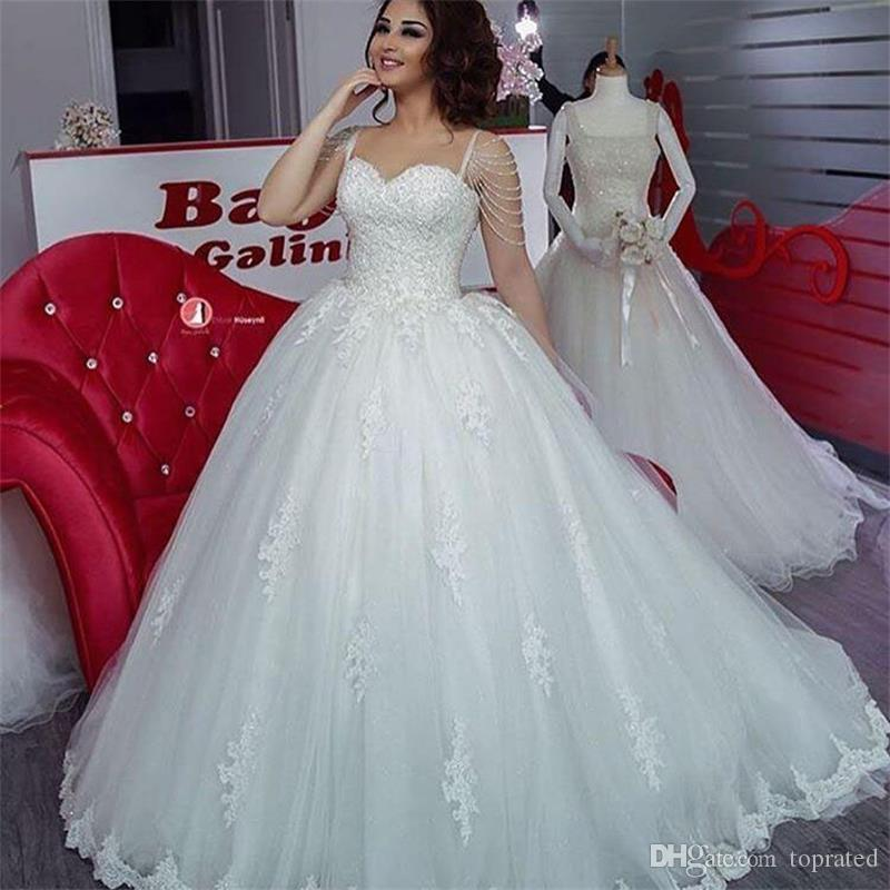 Discount Princess Cheap 2017 Tulle Wedding Dresses A Line Beading ...