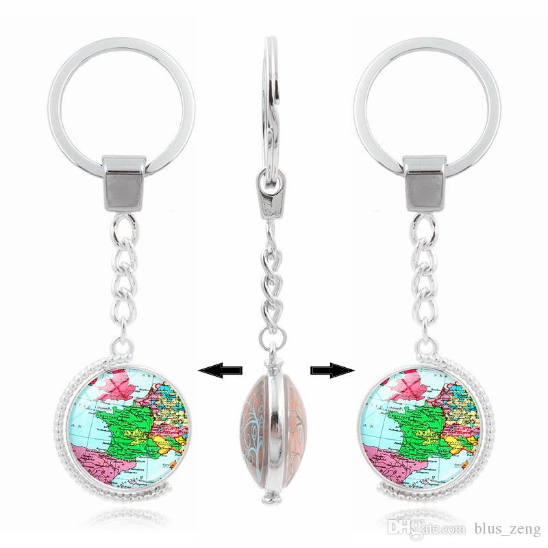 World map europe map double rotation metal keyring rhodium plated world map europe map double rotation metal keyring rhodium plated split key rings findings keychain key rings gift world map europe map metal keyring metal gumiabroncs Gallery