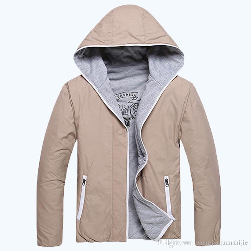 Giacche da trekking 2016 uomini liberi di trasporto uomini stile moda casual sottile colore solido giacca a due lati uomini i M-3XL 45