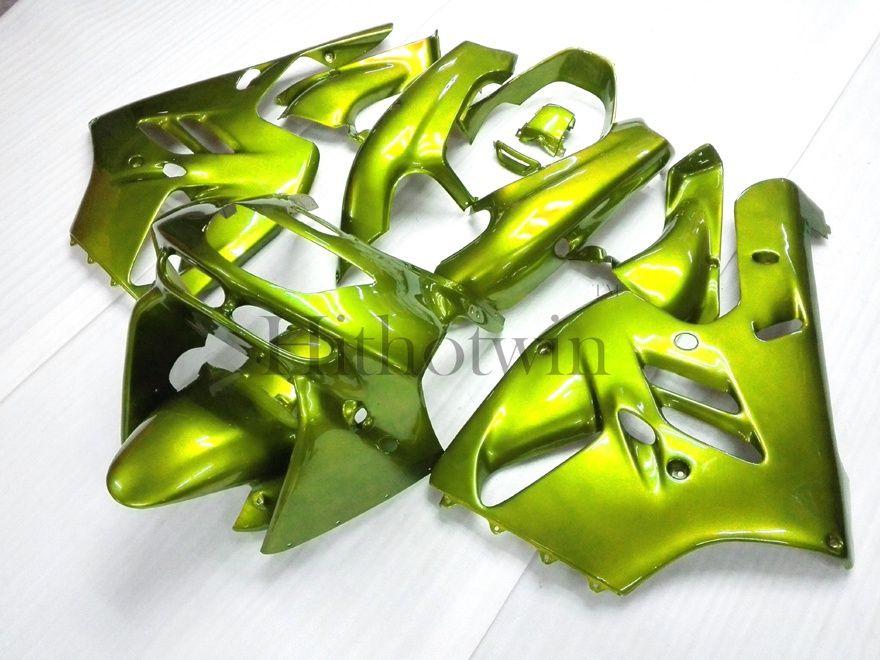 ABS Kunststoff Motorrad Verkleidungen Body Kit für Kawasaki ZX-9R 1994-1997 ZX 9R 94 95 96 97 grün Aftermarket Verkleidung