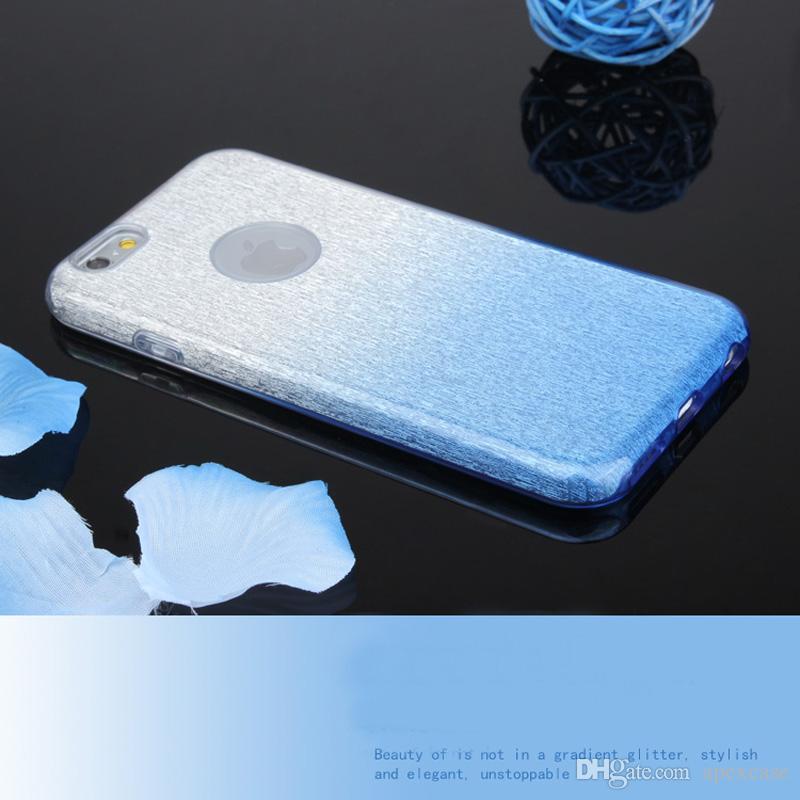 PAQUETE AL POR MENOR: híbrido 3 en 1 Estuche brillante con brillo degradado Bling para iphone 7plus fundas para iphone 6 Samsung S6 S7edge s8 s8plus