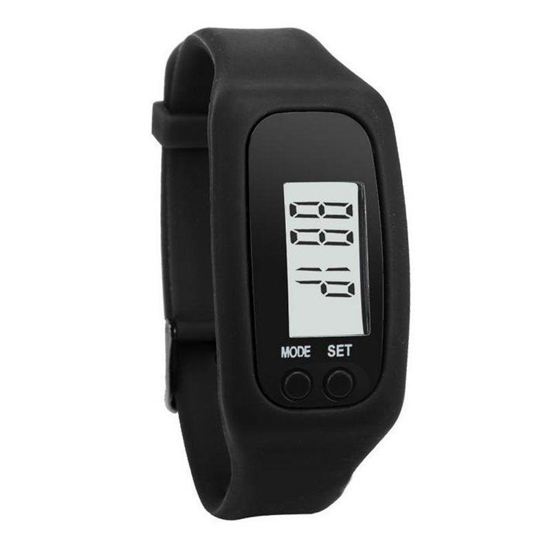 Dijital LCD Pedometre LED Spor İzle Run Adım Yürüyüş Mesafesi Kalori Sayacı Bilek İzle Bilezik hızlı kargo