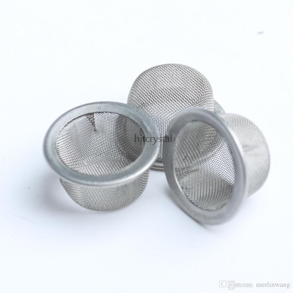 12.7mm Round Diameter 7mm Height Wholesale Smoking Screens Bowl Shaped Quartz Crystal Smoking Pipe Tobacco Metal Filters Smoking Accessories