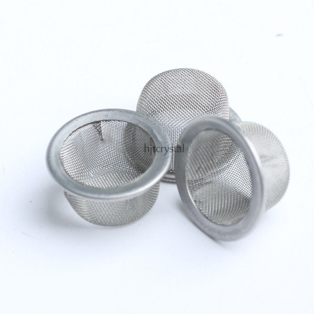 12.7mm Yuvarlak Çapı 7mm Yükseklik Toptan Sigara Ekranlar Kase Şekilli Kuvars Kristal Sigara Boru Tütün Metal Filtreler Sigara aksesuarları