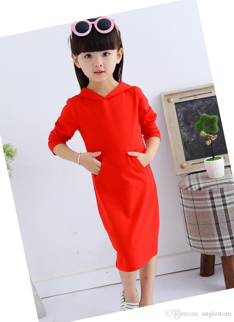 Großhandel Mädchen Kleid Chinesischen Stil Rote Kleider Mit Kapuze ...