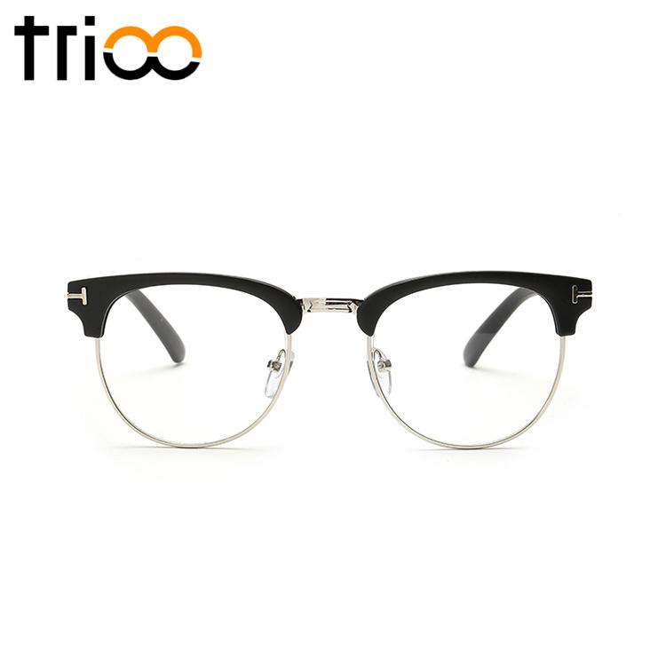 0c19257558 2019 Wholesale TRIOO Semi Rimless Black Gafas De Sol Mujer Retro Stylish  Glasses Frame Female New Trending Eyewear Optical Oculos De Sol From  Newcollection