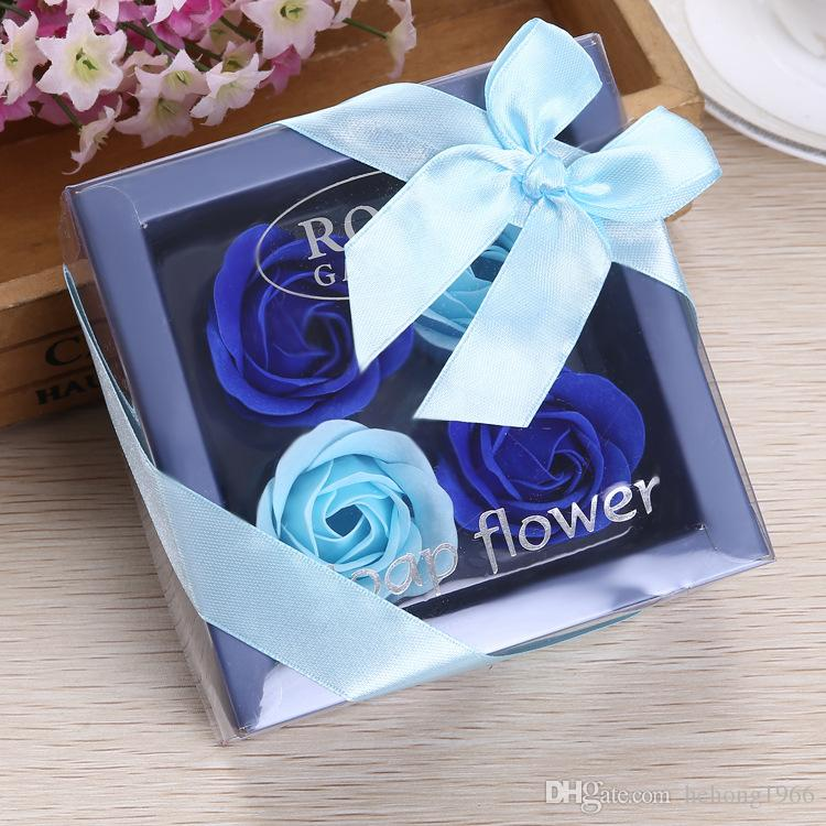 2019 Simulation Soap Flower Gift Box For Home Decoration Wedding Party Decor DIY Artificial Rose Flowers Colorful Multicolor Optional 5 5my C R From