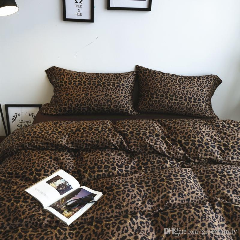 Attrayant Egypt Long Staple Cotton Bedding Sets Fashion Sexy Leopard Print Bedding  Set 100% Cotton Bed High Quality Duvet Cover+Bed Sheet+Pillowcases Duvet  Cover King ...