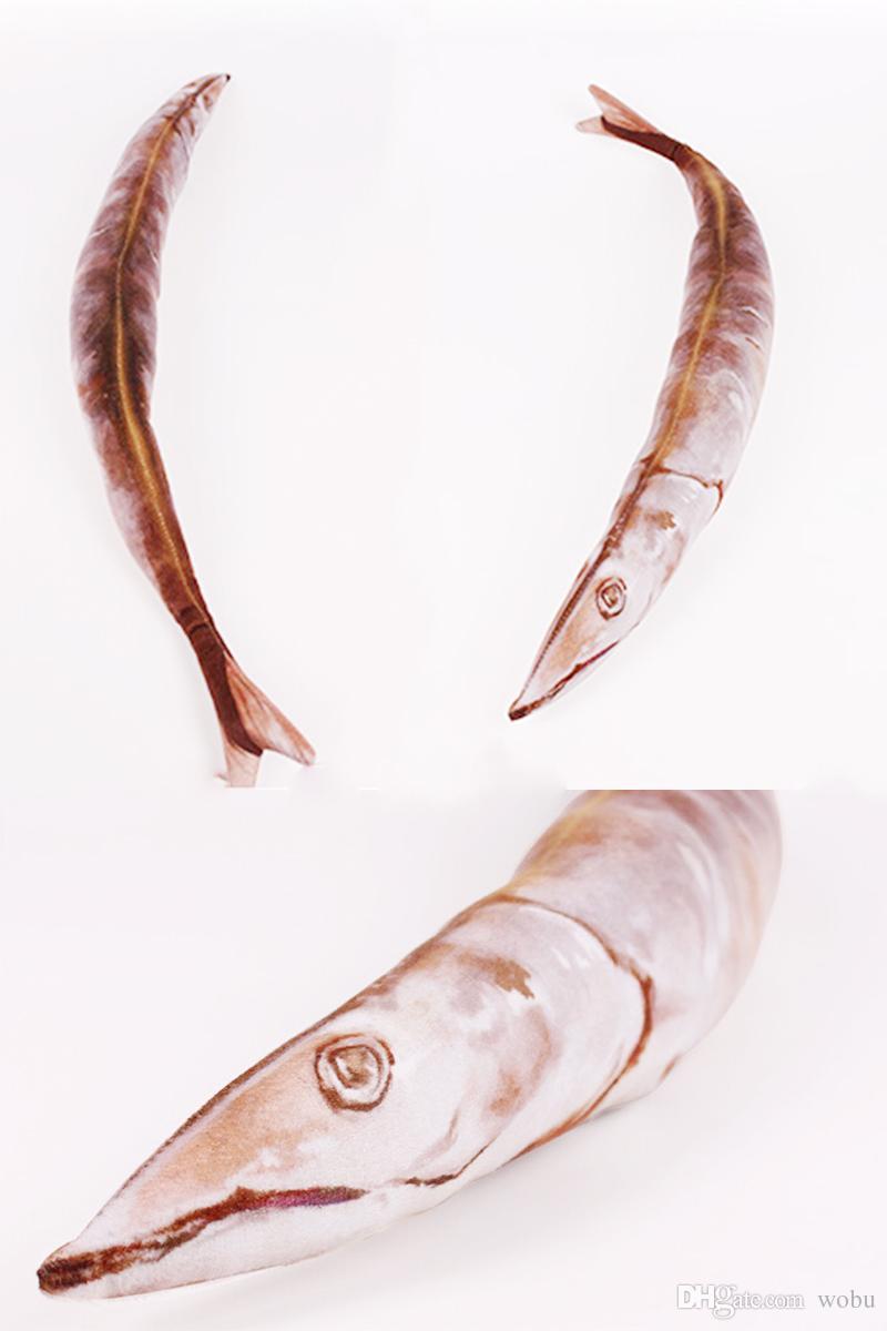 50cm Stuff juguetes para niños Niños Niñas Año Nuevo creativo lindo suave felpa de la historieta de los pescados del bebé de Kawaii divertido del regalo del algodón