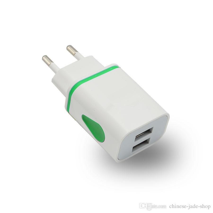 Waterdrop Dual USB Wall Charger 1A EU US Plug Plug adaptateur pour téléphone intelligent pad / MIX COULEUR