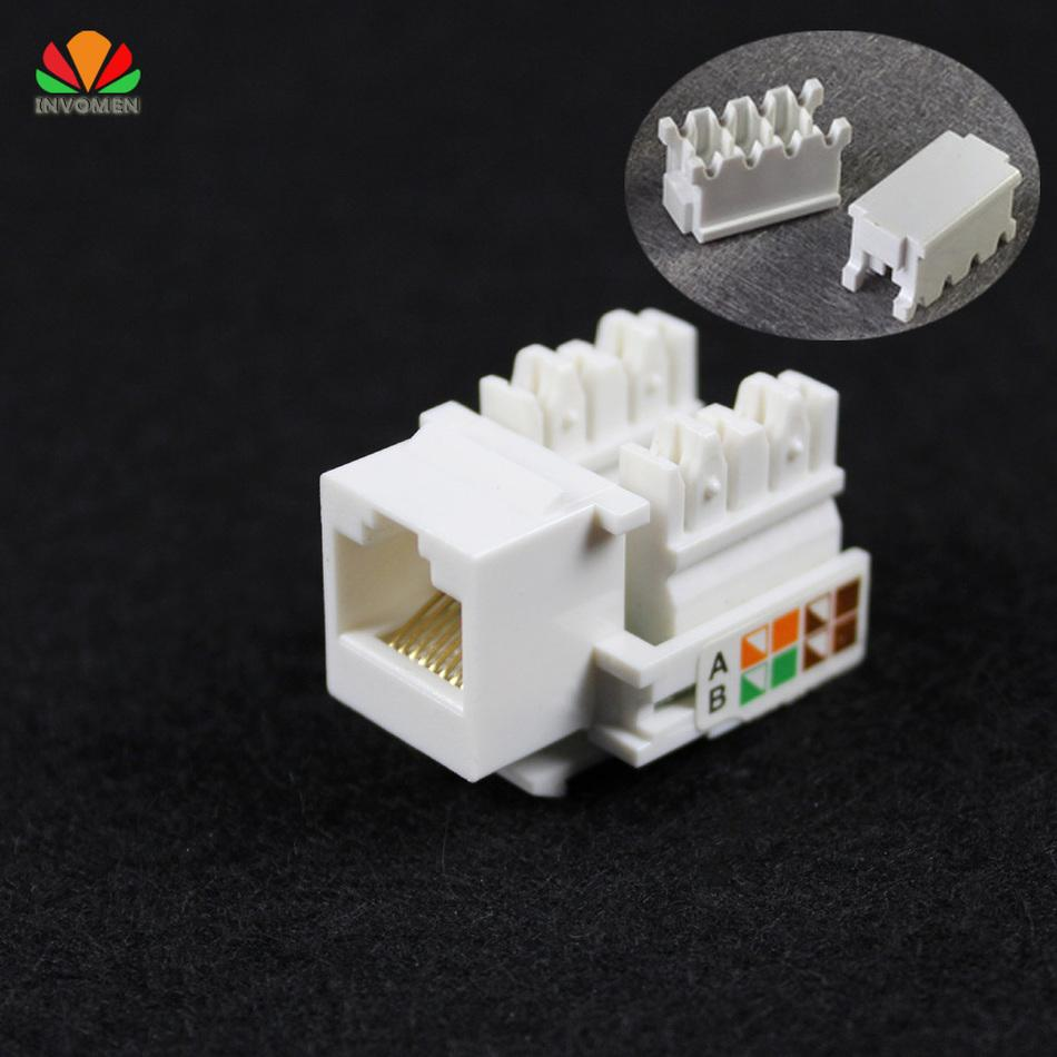 Wholesale Cat5e Utp Network Module Tool Free Rj45 Connector Wiring Jack Keystone Information Socket Computer Outlet Cable Adapter For Amp Cables