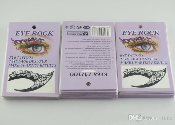 14 Designs Eye Shadow Temporary Tattoos Aufkleber Gemalte Augen-Make-up Künstlerische Mask Club Party Kosmetik Gesichtsschmuck mit Kleinkasten