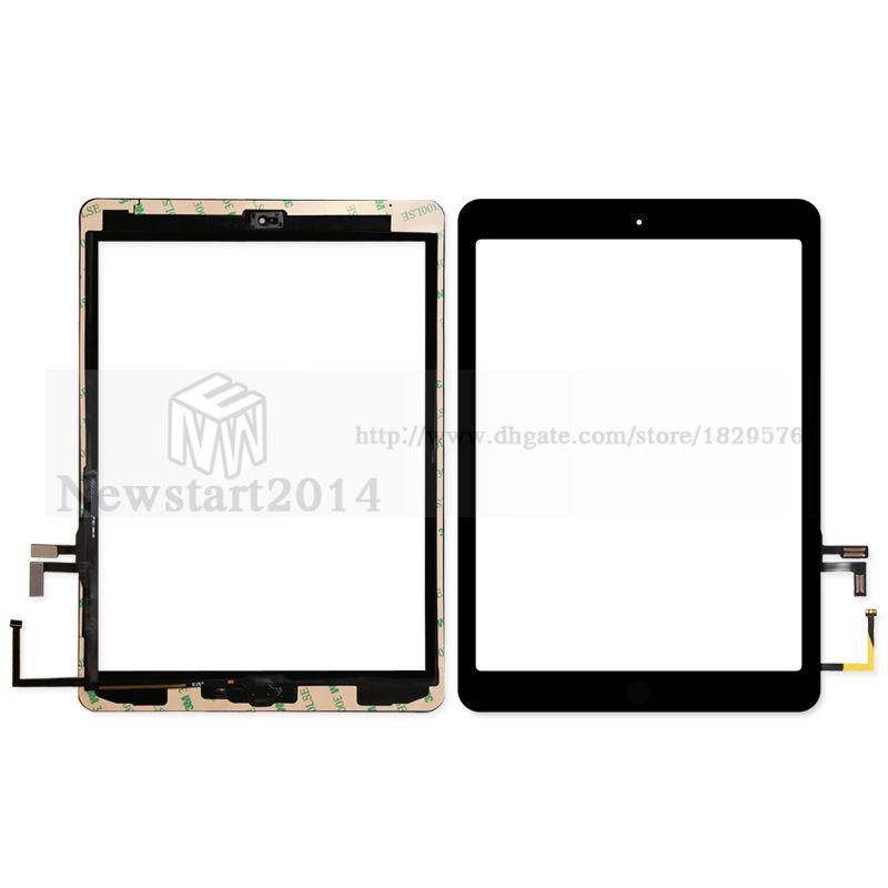 huasha ipad aria ipad 5 touch screen digitizer vetro assembly con home adesivo adesivo colla di ricambio a1474 a1475