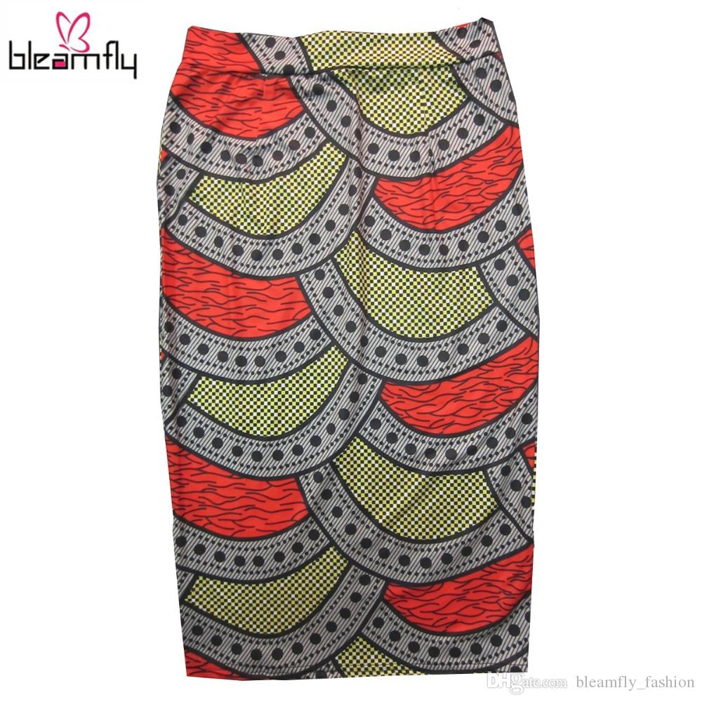 67509dfea3a7a 2019 2017 Summer African Dashiki Skirt High Waist Bodycon Midi Sexy Pencil  Skirt For Women Plus Size Fish Mermaid Print Clothing From  Bleamfly fashion
