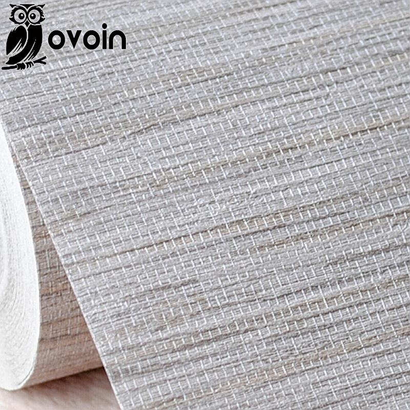 . Modern Rustic Embossed Textured Wallpaper Horizontal Faux Grasscloth Vinyl  Wall Paper Classic Vintage WallCovering  Grey Beige