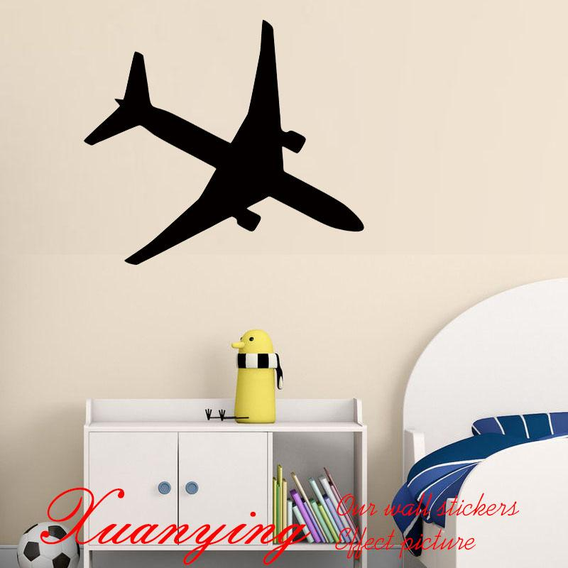 2017 Hot Diy Holiday Airplane Wall Decals Kids Bedroom Vinyl Adhesive  Stickers Home Decor Aircraft Silhouette Wall Stickers Wall Decal Quotes Wall  Decal ...