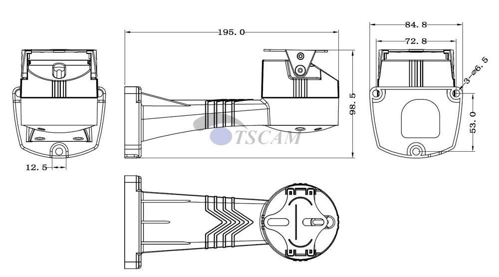 TSCAM yeni Açık CCTV Braketi PTZ Elektrik Döner RS485 Bağlantı Pan Tilt Rotasyon Motor Dahili IP Kamera Montaj Aksesuarları Için