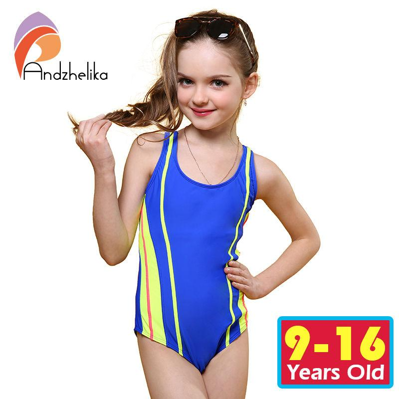 dfcc0e6d8d990 2019 Wholesale Andzhelika One Piece Children Swimsuit Girls Summer  Patchwork Solid Swimwear Sports Bodysuit Girl Swim Suits Bathing Suit  AK8911 From Sizhu, ...