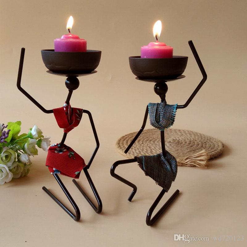 New Ideas Candlestick Decoration Iron Arts & Crafts Tableware Home ...