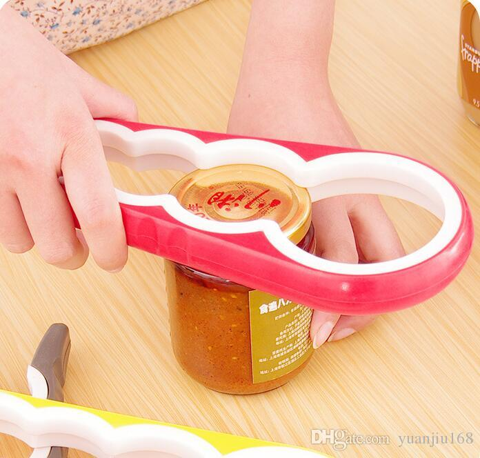 Opener 4 In 1 Gourd-shaped Can Opener Multi Purpose Screw Cap Jar Openers Bottle Lid Grip Wrench Kitchen Accessories G705