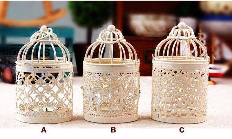 metal bird cage wedding candle holder lantern morocco vintage small