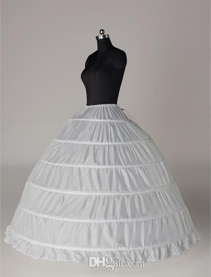 Süper Ucuz Balo 6 Çemberler Kombinezon Düğün Kayma Kabarık Etek Gelin Jüpon Katmanları Kayma 6 Çember Etek Quinceanera Elbise Için Kabarık Etek
