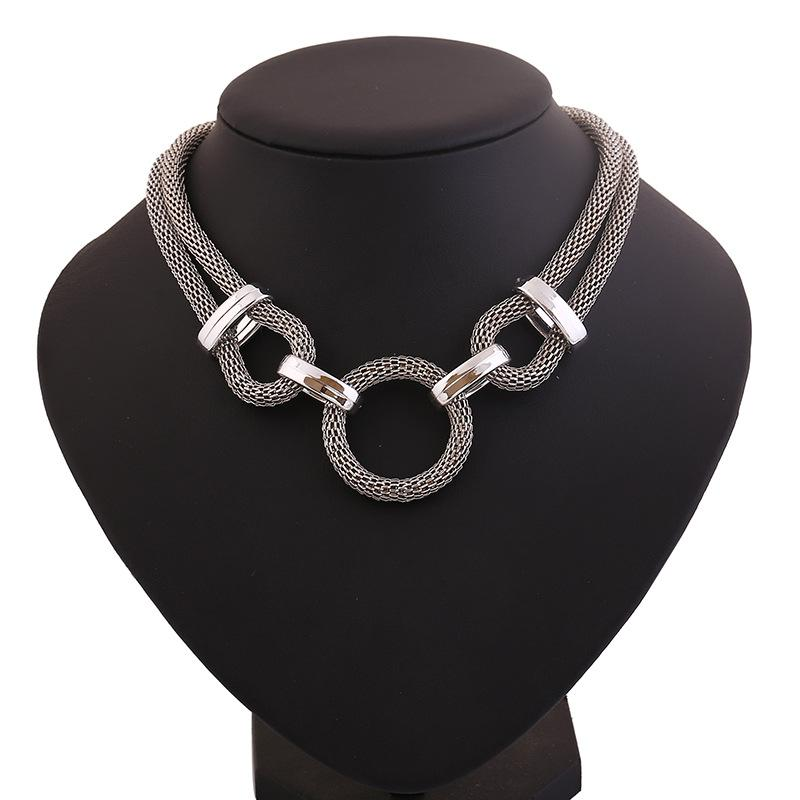 Wholesale Wholesale Silver Plated Plastic Necklaces \u0026 Pendants Circle Link Mesh Chain Statement Necklace Women Kolye Punk Jewjlry For Gift Party Heart ...  sc 1 st  DHgate.com & Wholesale Wholesale Silver Plated Plastic Necklaces \u0026 Pendants ...