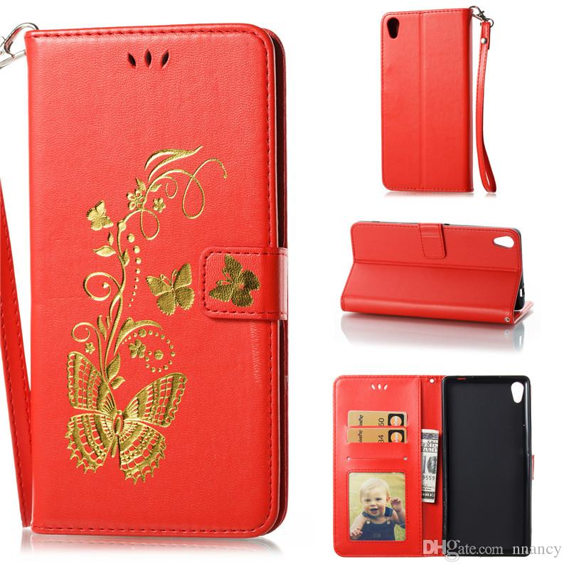 Advanced Luxury Classic Wallet Case For Sony Xpria XA1 2017 XZ L1 Xmini C6 Case Flip Stand Cover Phone Shell Retail Package