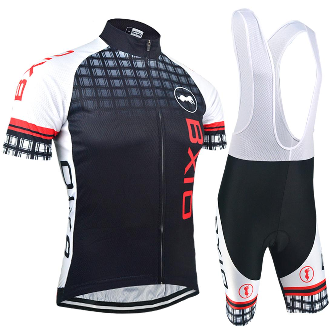 BXIO Brand Promotion Item Men Cycling Jerseys Short Sleeve Bike Jerseys  Quick Dry Zipper Jersey And Bib Pants Set Sale Ropa Ciclismo BX 012 Cycling  Caps Bib ... 0e3f38a26