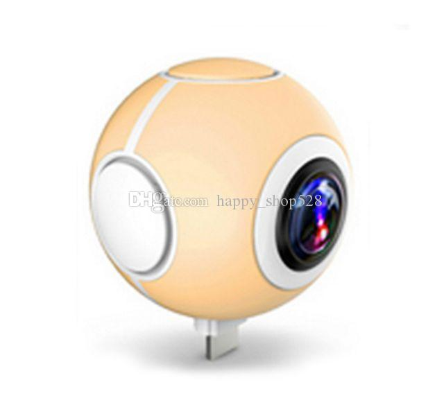 NEW Pano Live i 360 Air Mini Panoramic 360 Camera Dual Angle FishEye Lens Micro USB Type-C VR Camera for Andriod Smartphone with retail box