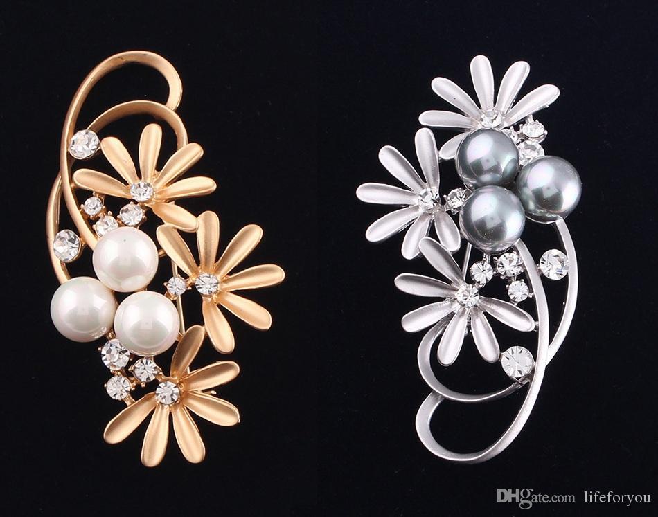 Perni di spilla di gioielli di perle di lega di spilla di spilla di strass vintage cerimonia nuziale invito a nozze costume party dress spilla pin