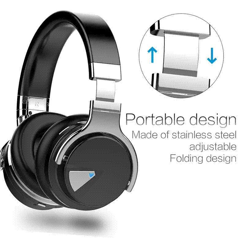 db9c9db9961 Cowin E 7 Active Noise Cancelling Bluetooth Headphones Wireless Stereo  Headset Deep Bass Headphones With Microphone/For Phone Wireless Bluetooth  Earbuds 50 ...