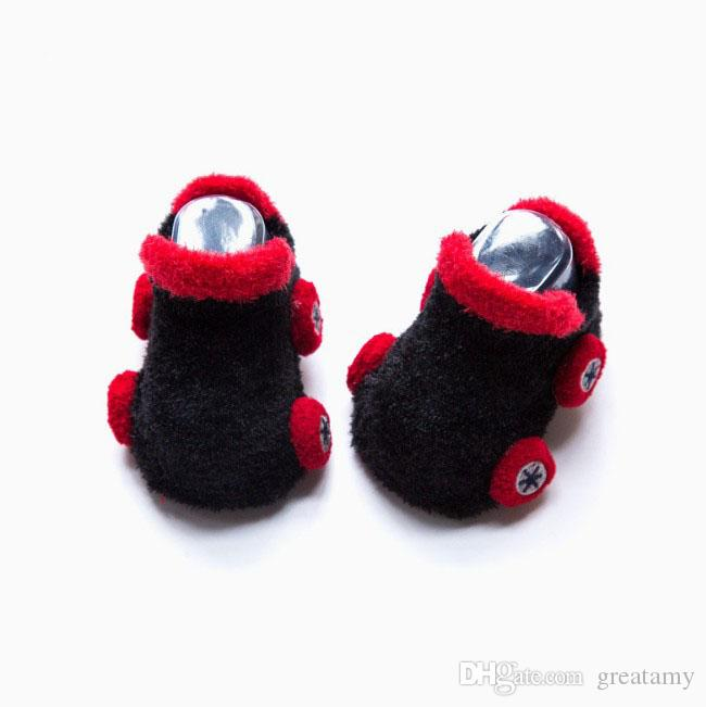 Infantil Baby Kids Socks 3D coreano dos desenhos animados Car não escorregar para meninos das meninas da criança recém-nascido Crianças Chinelos bonito New