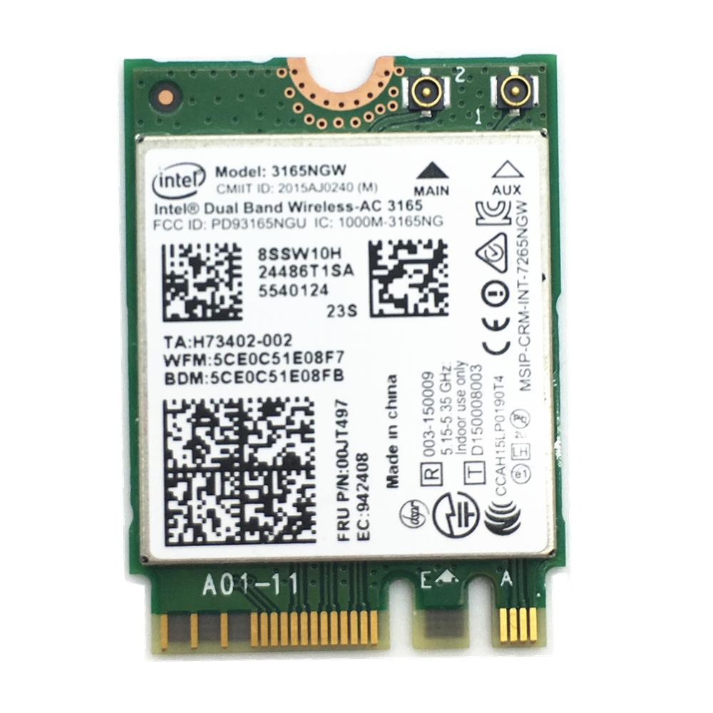 Wholesale For Lenovo Intel Dual Band Wireless Ac 3165 3165ngw 802.11 ...