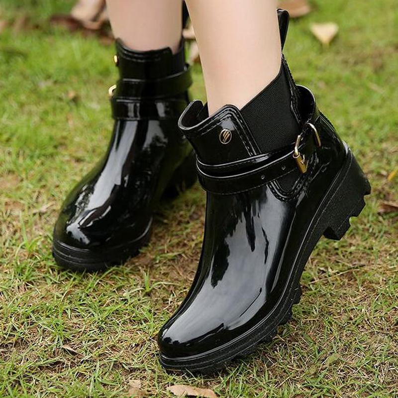 Compre Zapatos De Goma Para Mujeres Zapatos De Lluvia Para Las Niñas ...