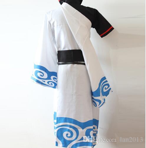 Spedizione gratuita Silver Soul Gintama Sakata Gintoki Kimono Anime Costume cosplay Dademade d'origine