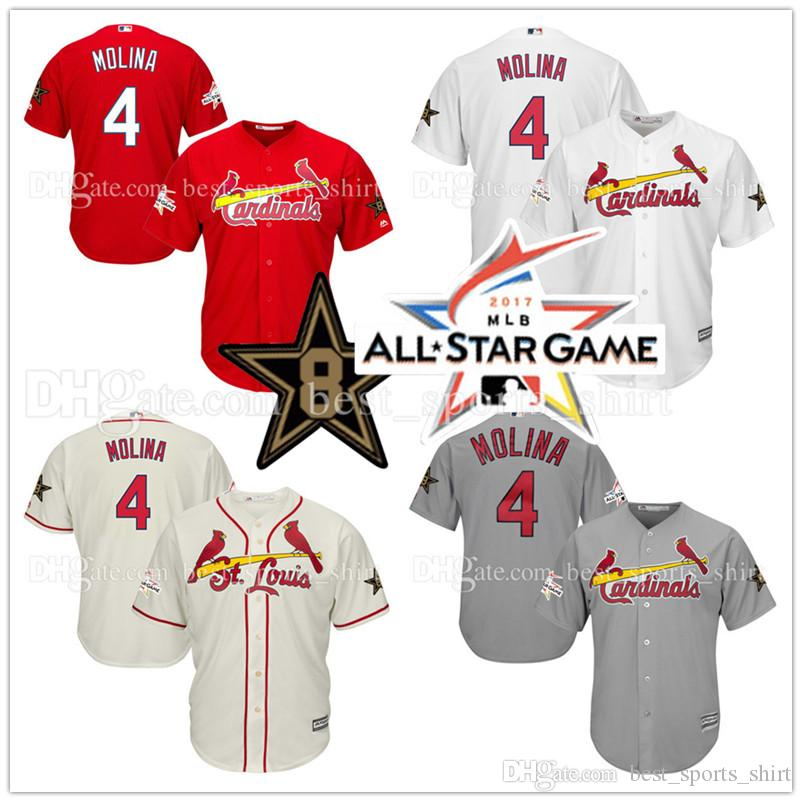 2494a1a9 ... reduced 2017 new st. louis cardinals 4 yadier molina jersey 2017 all  star game cool