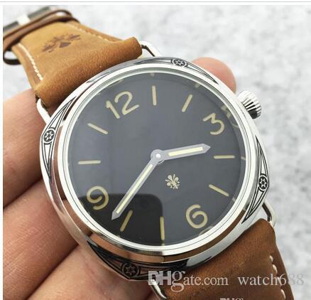 Promoción Reloj de edición limitada PAM00672 Reloj de pulsera de moda para hombre de la marca Top Reloj de pulsera mecánico de cuerda manual para hombre de cuero natural