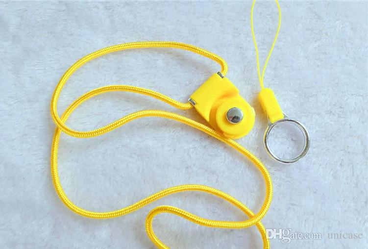 Rotating Ring Shell Rope Hanging Rope Two-piece Split Creative Work Card Cell phone Mp3 Mp4 Camera ID Card DHL Shipping