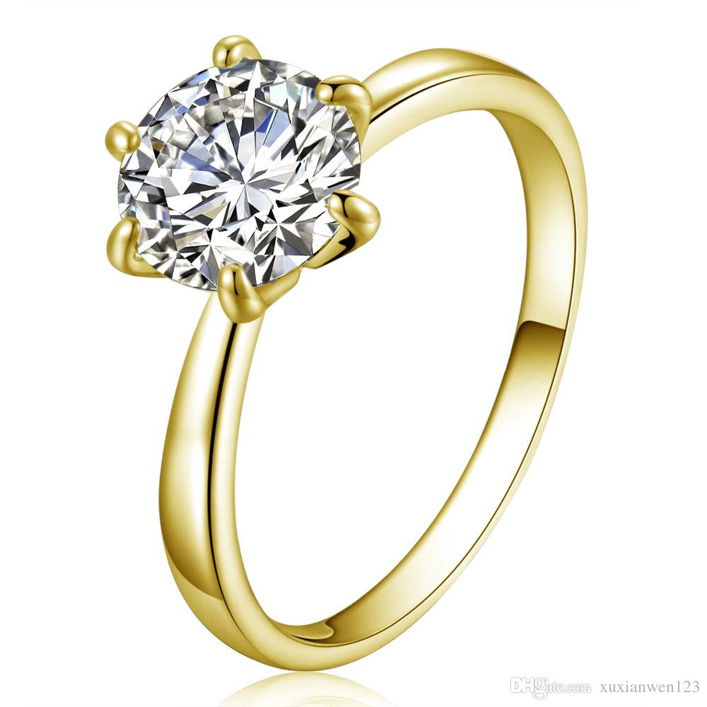 New Design Womens Full crystal Finger Ring Rose Gold Plated Micro Inlay CZ Diomand Hollow X Shape Punk Jewelry Rings