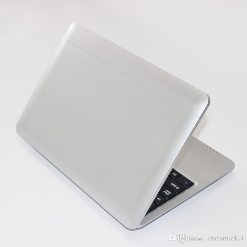 Fashion Laptop A33 1.5GHZ 10Inch Notebook Sliver Color Android laptop HDMI Laptop 10inch Dual core 1GB RAM 8 GB ROM Wi-fi Mini Netbook