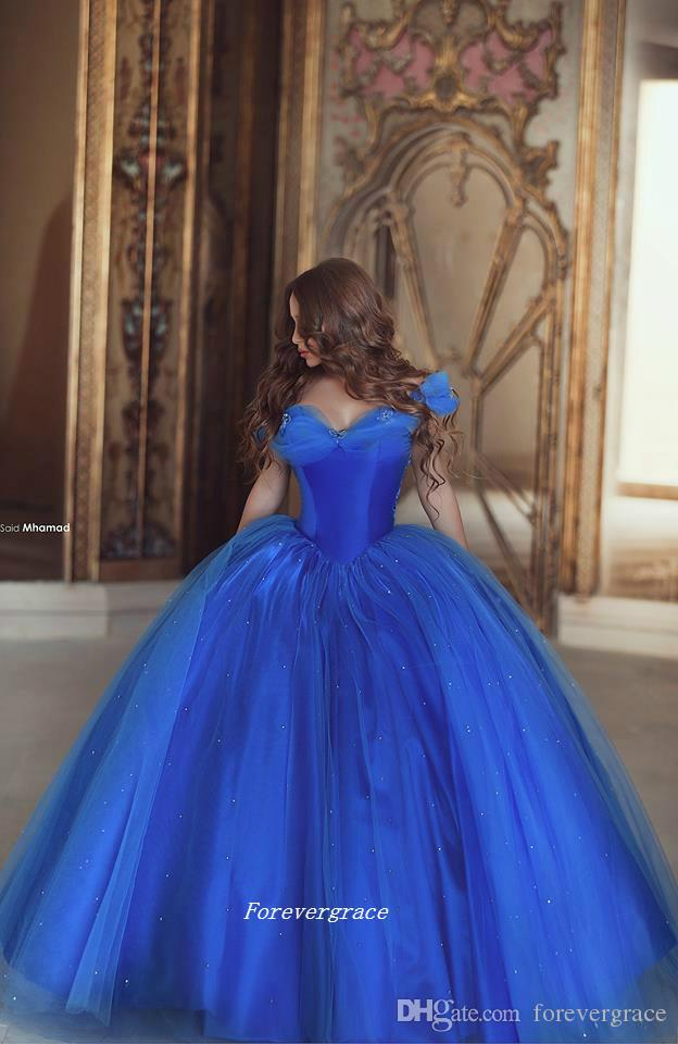 Seksi Kraliyet Mavi Balo Elbise Yeni Geliş Balo Cap Kollu Kat Uzunluk Uzun Örgün Giyim Parti Kıyafeti Custom Made Artı Boyutu