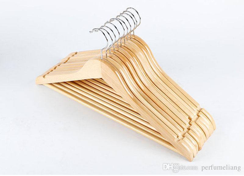 Natural Wooden Coat Hangers Clothes Garment Suit Shirt Trouser Holder Drying Racks Closet Organizer Household Supplies ZA3456